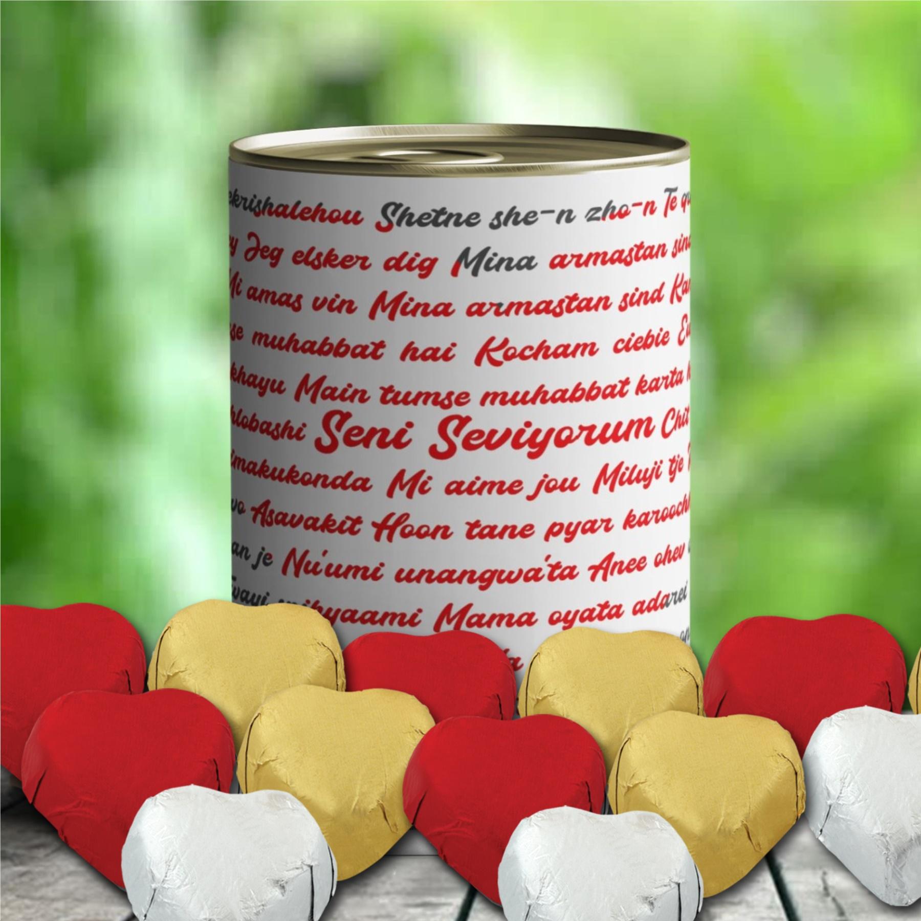 100 Dilde Seni Seviyorum Mabel Çikolata Konservesi -47